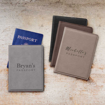 Personalized Passport Cover with Name