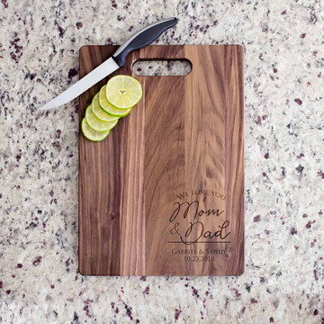 Personalized Parents of the Bride & Groom Cutting Board