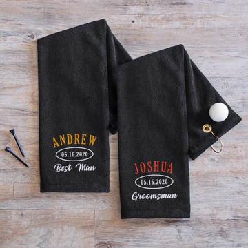 Personalized Groomsman Golf Towel