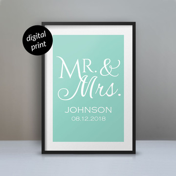 Personalized Mr. & Mrs. Poster: Digital File