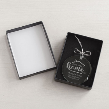 Personalized First Home Ornament gift box