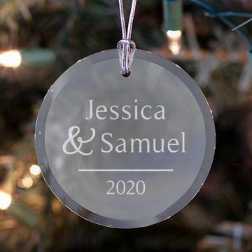 Personalized Couple's Ornament