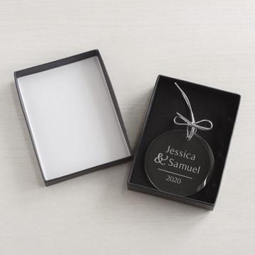 Personalized Couple's Ornament gift box
