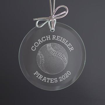 Personalized Baseball Softball Coach Ornament