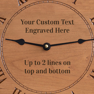 Create Your Own Engraved Wood Clock