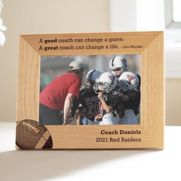 Personalized Football Coach Picture Frame