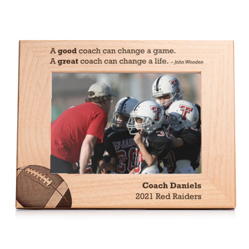 Personalized Football Coach Picture Frame Landscape