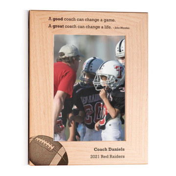 Personalized Football Coach Picture Frame Portrait