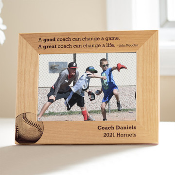 Personalized Baseball Coach or Softball Coach Picture Frame