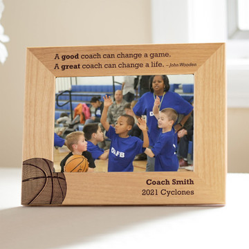 Personalized Basketball Coach Picture Frame