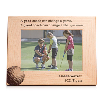 Personalized Golf Coach Picture Frame Landscape