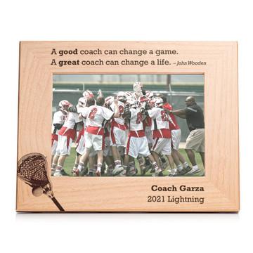 Personalized Lacrosse Coach Picture Frame Landscape