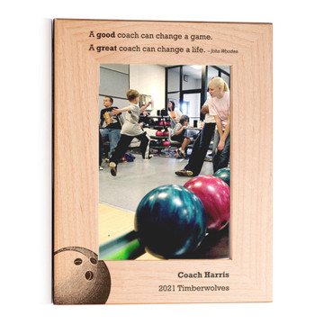 Personalized Bowling Coach Picture Frame Portrait