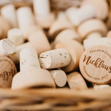 Bulk Personalized Destination Wedding Wine Stopper Favors