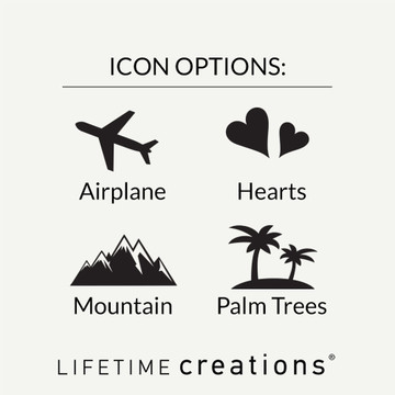 Personalized Destination Wedding Wine Stopper Icon Options