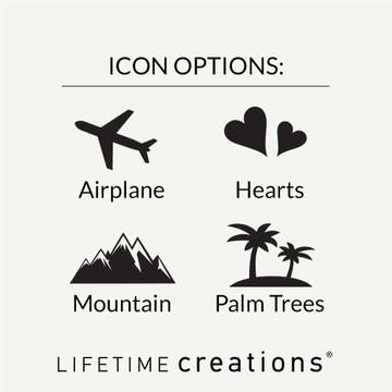 Bulk Personalized Destination Wedding Bag Tag Favors Icons