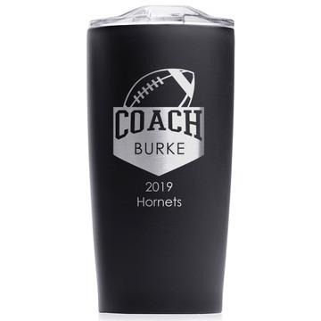 Football Coach Stainless Steel Tumbler Black