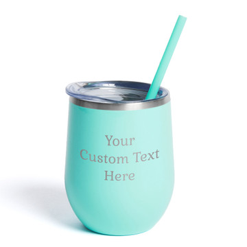 Create Your Own Personalized Teal Wine Tumbler