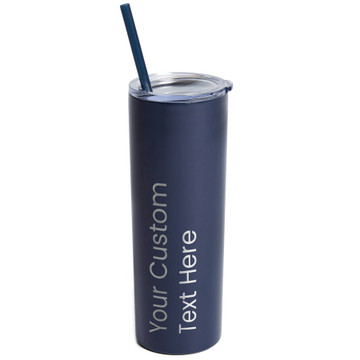 Create Your Own Personalized Skinny Navy Tumbler
