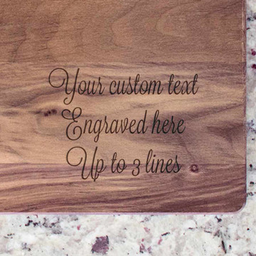 Create Your Own Personalized Cutting Board Custom Text