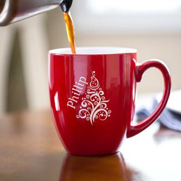 Personalized Christmas Tree Coffee Mug