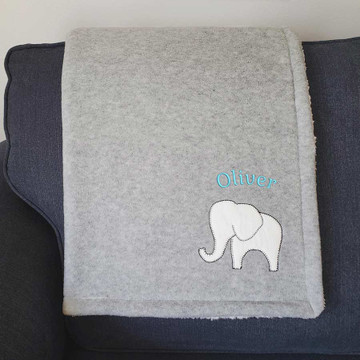 Personalized Sherpa Baby Blanket