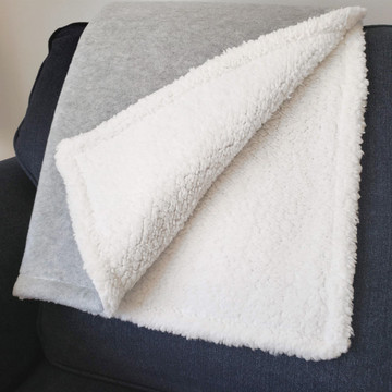 Personalized Sherpa Baby Blanket Details