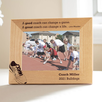 Personalized Track/Cross Country Coach Picture Frame