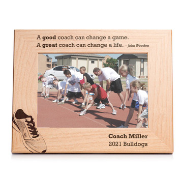 Personalized Track/Cross Country Coach Picture Frame Landscape