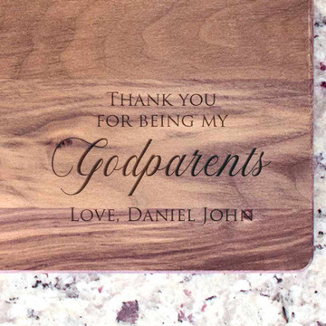 Personalized Godparents Walnut Cutting Board