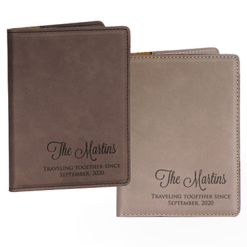 Personalized Mr. & Mrs. Passport Covers Pair