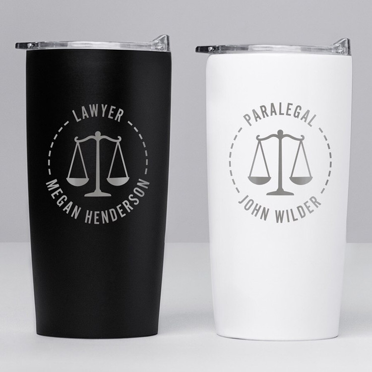 Personalized Law School Graduation Gift Stainless Steel Tumbler