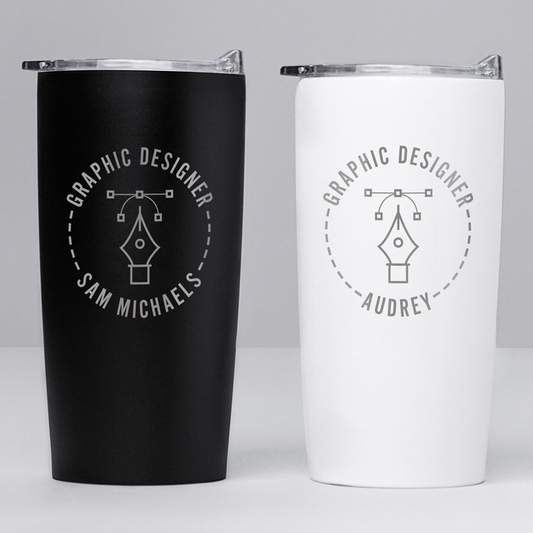 Personalized Graphic Designer Stainless Steel Tumbler