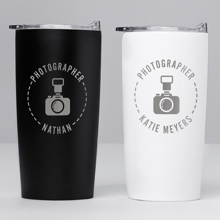 personalized photographer tumbler gift