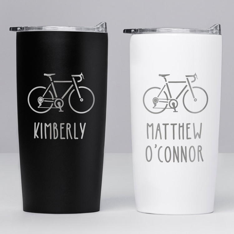 personalized bicycle tumbler