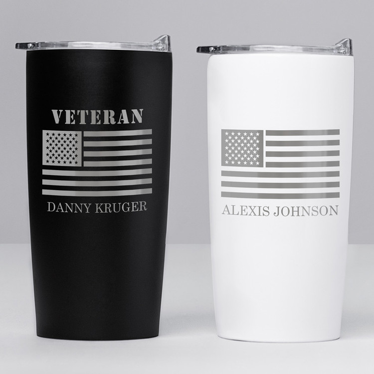 Personalized Veterans Day Stainless Steel Tumbler