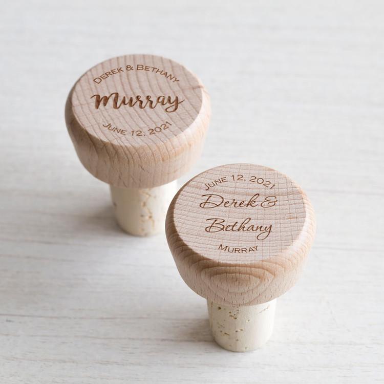 personalized wedding wine stoppers bulk