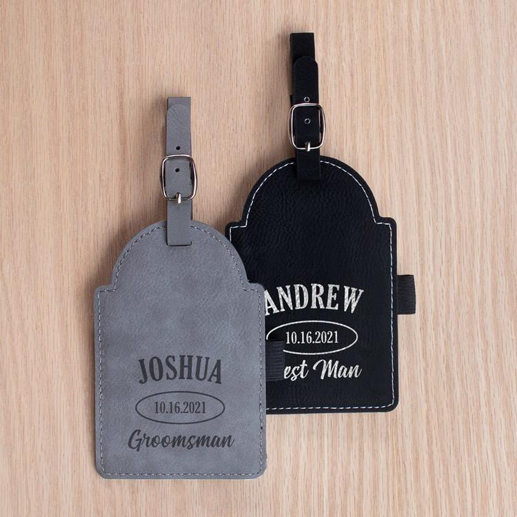 personalized groomsman golf bag tag
