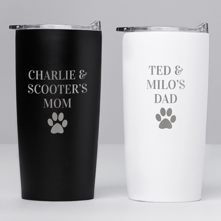 Personalized Pet Names Stainless Steel Tumbler