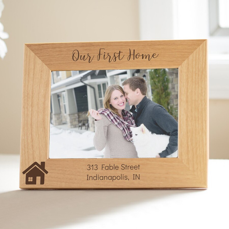 Personalized Our First Home Picture Frame