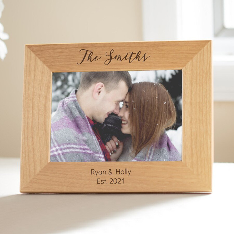 Personalized Last Name Photo Frame