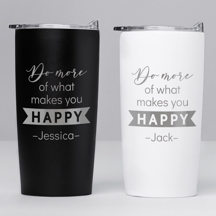 Personalized Motivational Quote Tumbler