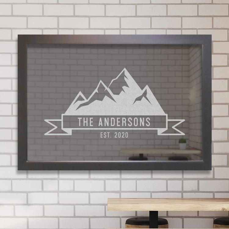 Custom Bar Mirror - Mountains