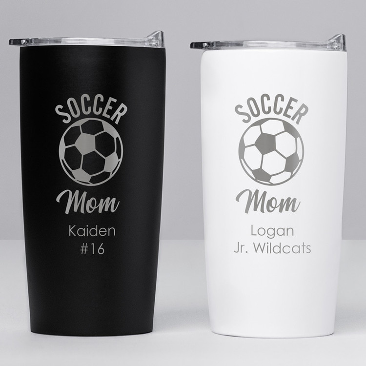 personalized soccer mom tumbler gift