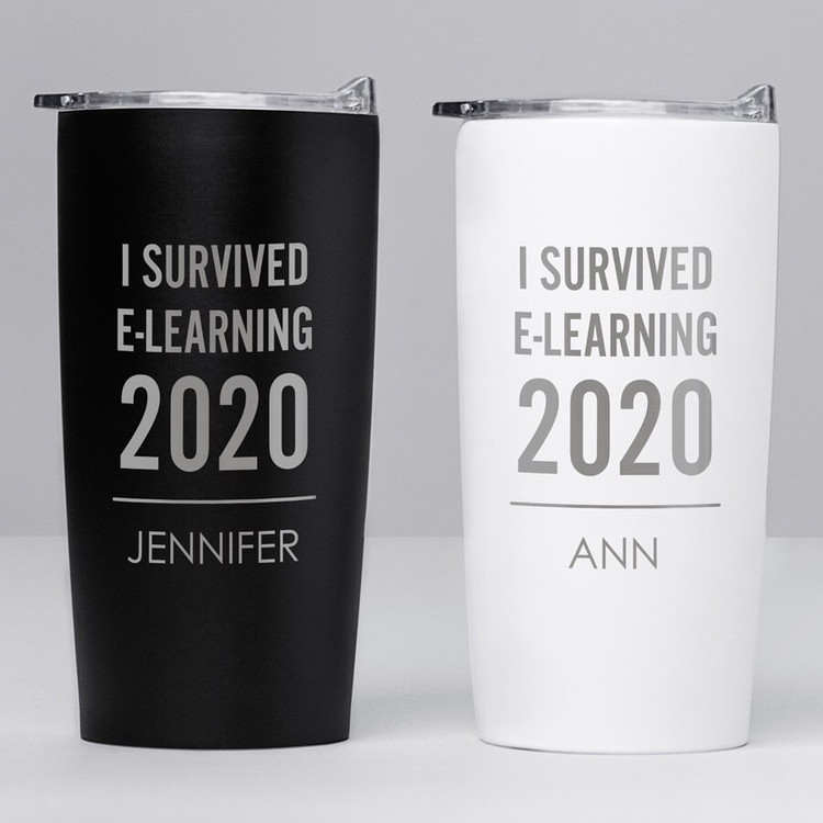 Personalized Virtual Learning Stainless Steel Tumbler