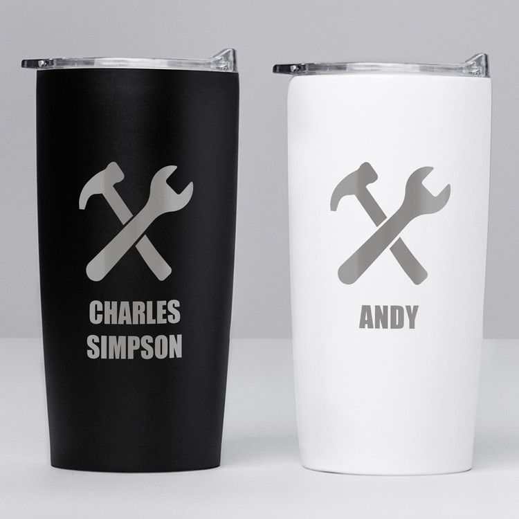 personalized construction worker tumbler gift