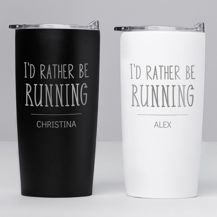 i'd rather be running personalized 20 oz tumbler