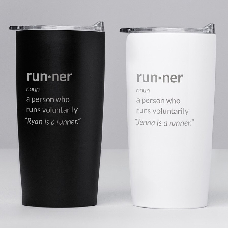 personalized runner definition tumbler gift coffee travel mug