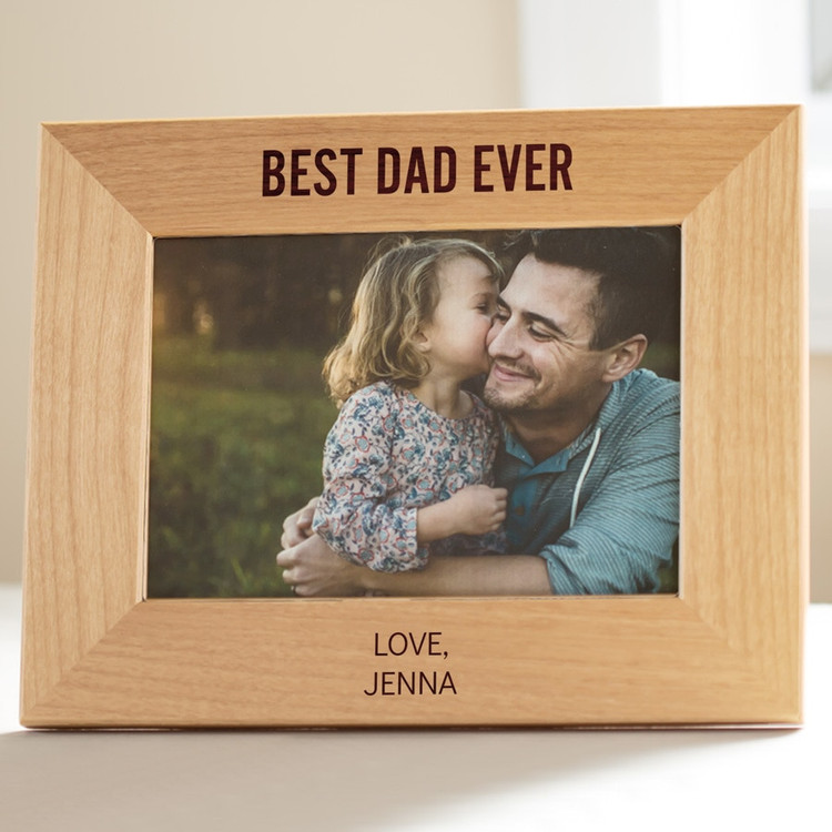personalized best dad ever picture frame fathers day