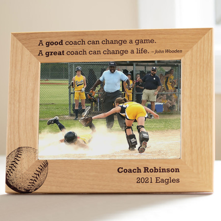Softball Coach Picture Frame